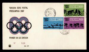 DR WHO 1967 MEXICO FDC OLYMPICS CACHET SPORTS COMBO  g12281