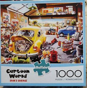 Buffalo games 1000 pc PUZZLE  Cartoon World Sam's Garage Gently Used