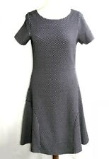 MEXX - Vestido tela gruesos elástica fondo azul marino & talla blanco 38 M