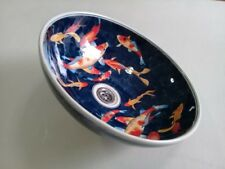 Vanity basin porcelain vanity top bathroom basin koi carp style Post Free