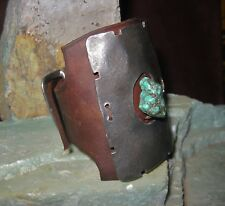 Sundance Catalog Hammered Belt Buckle Reworked Turquoise Ketoh Cuff