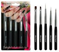 Mia Secret 5 Pcs Professional Magic Nail Art Design Brush Set (NB-5P)