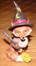 Fox Witch Hat (Jim Shore Heartwood Creek by Enesco, 6001552) Minature, Halloween