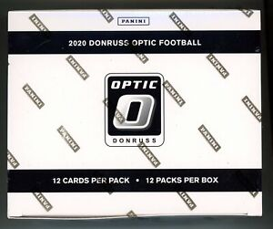 2020 Donruss Optic Football NFL FACTORY SEALED 12 Pack Cello Box 144 CARDS RC!