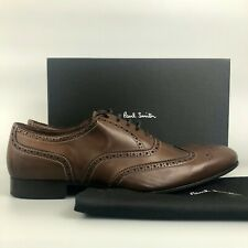 NEW Paul Smith Dark Brown Miller Leather Oxford Brogues Formal Shoes Size UK9 43