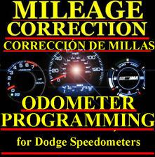 Dodge Speedometer Instrument Gauge Cluster Mileage Odometer Programming