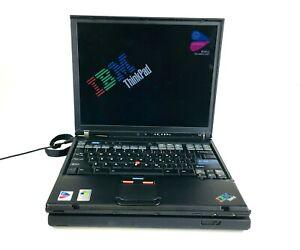 Lot of 2 IBM Thinkpad T42 Intel Pentium M 1.70GHz 40GB HDD - For Parts