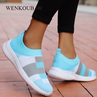 Women Casual Vulcanized Shoes Mesh Sneakers 2020 Female Knitted Flat Shoes Ladie