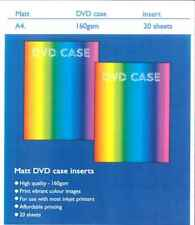 20x A4 160gsm Matt DVD Case Printable Inkjet inserts/sleeves, print your own