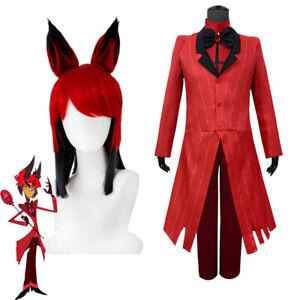 Hazbin Hotel Alastor Cosplay Costume The Radio Demon Uniform Halloween party set