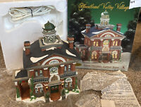 Heartland Valley Christmas Village Lighted ~ Brownstone House W 6' Cord, Bulb