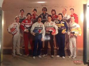 1985 The Winston Vintage NASCAR Poster 30x24 VG+ Earrnhardt Richmond Parsons