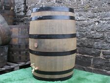 "40 gallon oak barrel water butt with 1/2"" brass tap"