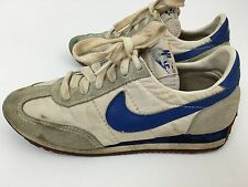 Vintage NIKE Sneakers Suede Leather Upper Blue Swoosh logo Size 7 Shoes
