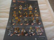 LEGO Minifigures Ninjago il film MINI FIGURES 71019 COMPLETO FULL SET X20 NUOVO