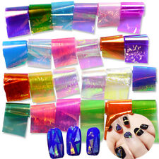 20 Colors Nail Art Sticker Holographic Broken Glass Laser Nail Art Foil Stickers