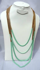 4 Layers Green Party Necklace Jewellery