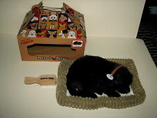 Perfect Petzzz Life Like Animal Pets Black Lab Dog Works w Box Brush Bed 2013