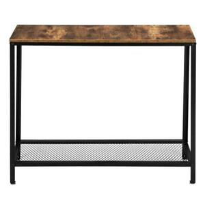2 Tier Console Table Hallway Table Entryway Table for Living Room Bedroom Decor