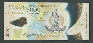 VANUATU 5000 VATU  2017  POLYMER P-19 UNC