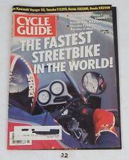 CYCLE GUIDE Rare Motorcycle MAGAZINE Fastest Street Bike in World July 86 Cover