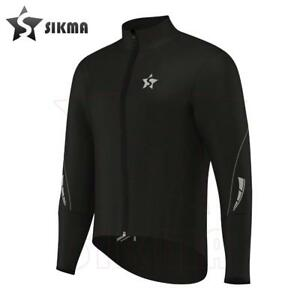 Rain Coat Cycling Waterproof Jacket Rain Suit Top High Viz Black Unisex running