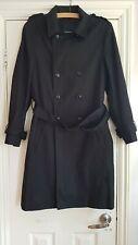 Feraud black double breasted mac raincoat trench coat medium slim fit