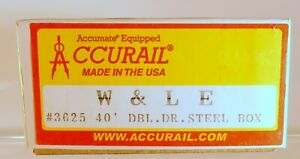 Accurail Unassembled KIT: Wheeling & Lake Erie Steel 40' Auto Boxcar