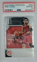 2018 18-19 Panini Chronicles Chrome Trae Young Rookie RC #532, Graded PSA 10