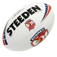 Steeden Sydney Roosters NRL White Football - Size 5