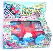 HK Hong Kong SMURFS 4x4 ALL TERRAIN BUGGY Battery Operated Smurf Car MIB`83 RARE