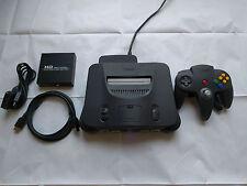 Nintendo N64 HD RGB Region Free Amp Modded Console w/ Scart, HDMI, Upscaler.