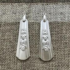 1938 Rosalie * Wm A Rogers * Oneida * Silver Plate Flatware Earrings