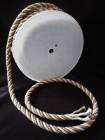 ancien rouleau-corde d'ameublement-2 tons-4 brins-53 mètres-textile-décoration