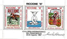 FOGLIETTO ERINNOFILO XXXIX FIERA RICCIONE 1987 LIBERTY FIRMATO GIULIO CUMO