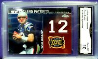 2008 TOPPS CHROME TOM BRADY #TB NFL DYNASTIES INSERT GEM MINT 10