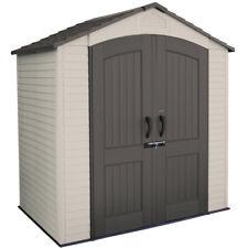 Casetta in Resina PVC per Esterno Ricovero Porta Attrezzi da Giardino Mobile Box