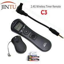 JINTU C3 Wireless Timer Remote Shutter For Canon 1Ds 5D Mark II III 50D 6D 7D