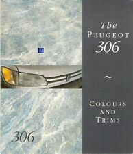 Peugeot 306 Colour & Trim 1993 UK Market Foldout Brochure XN XL XR XT