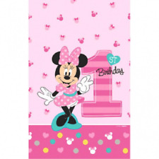 Disney Minnie Mouse Fun to be One 1st Birthday Table Cover