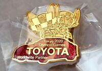 2020 Tokyo Olympic TOYOTA WORLDWIDE SPONSOR Mascot pin