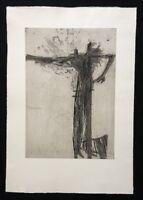 Reinhard Drenkhahn, Leitermann, aus Nachlass, Radierung, 1957, Signaturstempel