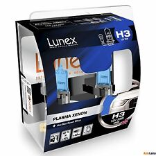 2x LUNEX H3 PLASMA XENON Headlight Halogen Bulbs 12V 55W PK22s 5000K Hard Case