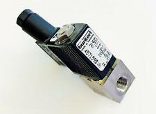 SS Burkert 6011 Solenoid 1/8 NPT 4W 42PSI 24VDC air gas co2 regulator valve