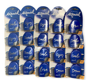 Lot Of 20 Equal Tablets Sugar Substitute Zero Calorie Sweetener SEALED