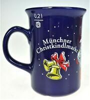 2007 Münchner Christkindlmarkt Christmas Market Germany Ceramic Cup Mug