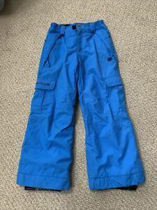 686 Ridge Youth Boys SMALL (8) Insulated Snowboard Snow Ski Winter Pants BLUE