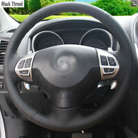 New DIY Sewing-on PU Leather Steering Wheel Cover Exact Fit For Mitsubishi ASX
