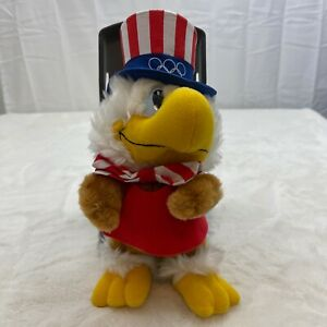"""Vintage Applause 1984 LA Olympic Mascot Sam The Eagle 9"""" Plush Toy Applause #825"""