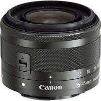 Canon EF-M 15-45mm f3.5-6.3 IS STM  FOR M M2 M3 M4 M5 M50 M6. 2 YEARS WARRANTY